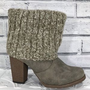 MUK LUKS Rolled Cuff Pull On Heeled Ankle Boot
